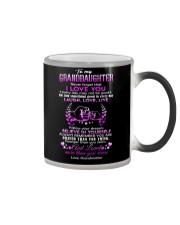Grandma to Granddaughter - Laugh Love Live - Mug Color Changing Mug tile