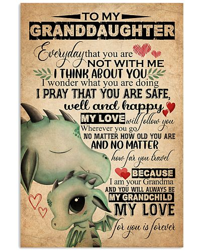 TO MY GRANDDAUGHTER - DRAGONS - GRANDMA