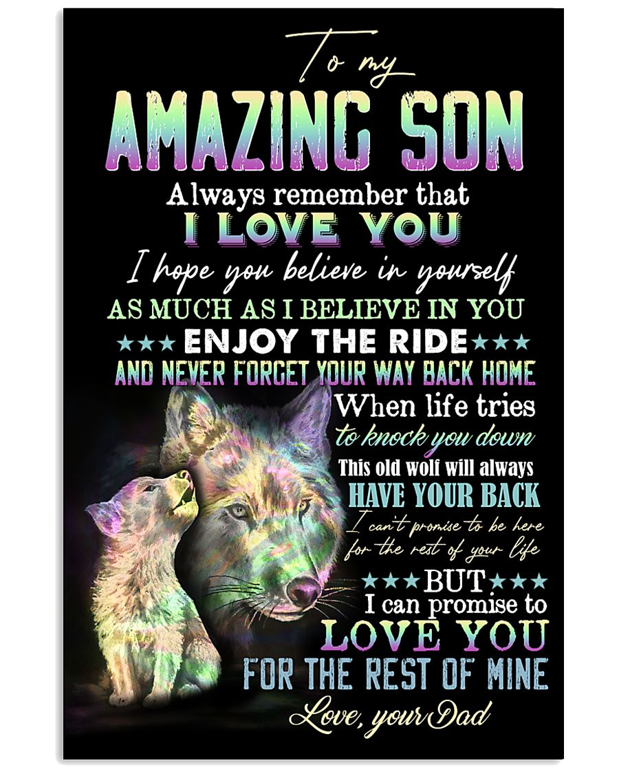Son - Wolf - Always Remember That I Love You 16x24 Poster