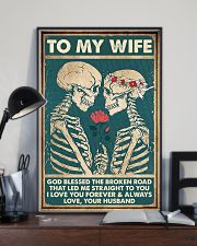 To Wife - Till The End Of Lives - God Blessed  16x24 Poster lifestyle-poster-2