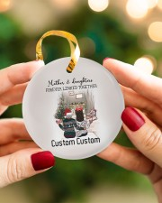 Daughter - Sitting Together - Personalized Circle ornament - single (porcelain) aos-circle-ornament-single-porcelain-lifestyles-08