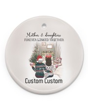 Daughter - Sitting Together - Personalized Circle ornament - single (porcelain) front