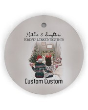 Daughter - Sitting Together - Personalized Circle ornament - single (wood) thumbnail