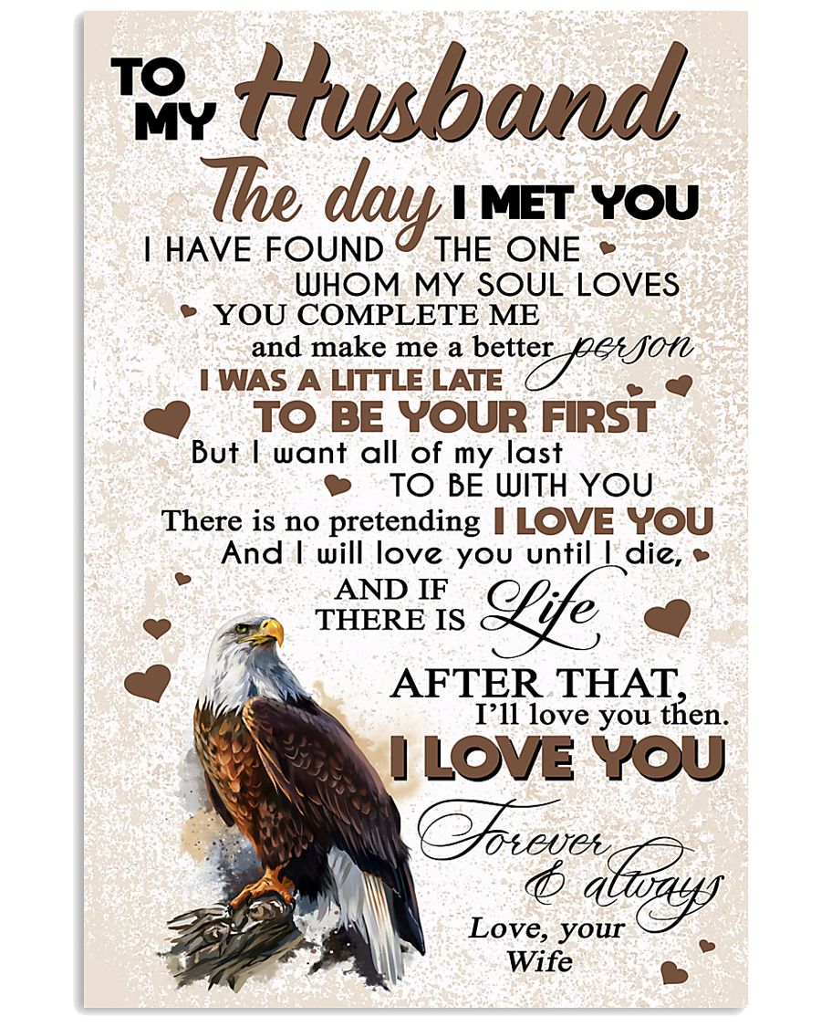 TO MY HUSBAND 16x24 Poster