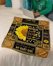 """To My Daughter - Keep Your Face To The Sunshine Small Fleece Blanket - 30"""" x 40"""" aos-coral-fleece-blanket-30x40-lifestyle-front-07"""