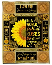 """To My Daughter - Keep Your Face To The Sunshine Small Fleece Blanket - 30"""" x 40"""" front"""