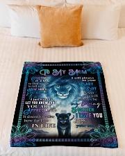 """To My Mom - Fleece Blanket Small Fleece Blanket - 30"""" x 40"""" aos-coral-fleece-blanket-30x40-lifestyle-front-04"""