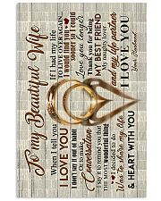 Husband to Wife - Rings - When I Tell You I Love  16x24 Poster front