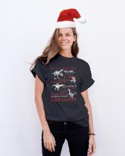 MY LOVING DAD - DINOSAUR - DAUGHTER SHIRT Classic T-Shirt lifestyle-holiday-crewneck-front-1