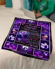 """Dad To Daughter - Life Is Filled With Hard Times  Small Fleece Blanket - 30"""" x 40"""" aos-coral-fleece-blanket-30x40-lifestyle-front-07"""