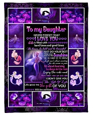 """Dad To Daughter - Life Is Filled With Hard Times  Small Fleece Blanket - 30"""" x 40"""" front"""