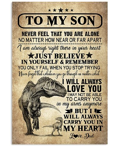 POSTER - TO MY SON - DINO - NEVER FEEL THAT