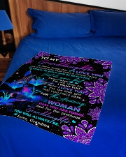 """To Granddaughter - Be Bold And Be Beautiful Small Fleece Blanket - 30"""" x 40"""" aos-coral-fleece-blanket-30x40-lifestyle-front-02"""