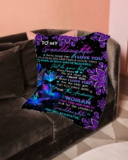 """To Granddaughter - Be Bold And Be Beautiful Small Fleece Blanket - 30"""" x 40"""" aos-coral-fleece-blanket-30x40-lifestyle-front-05"""