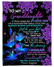 """To Granddaughter - Be Bold And Be Beautiful Small Fleece Blanket - 30"""" x 40"""" front"""