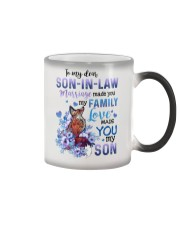 TO MY SON-IN-LAW - FOX - LOVE MADE YOU MY SON Color Changing Mug tile