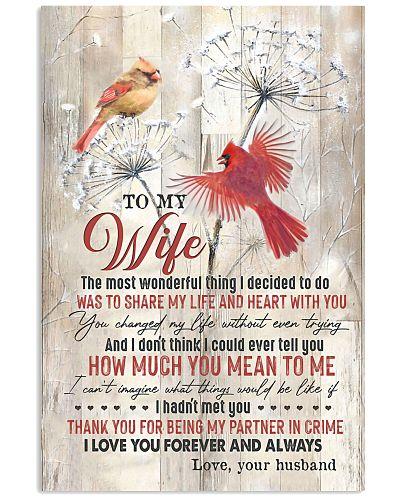 TO MY WIFE - CARDINAL - I LOVE YOU