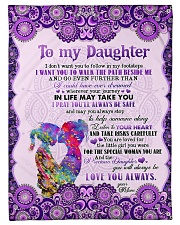 To Daughter - I Don't Want You To Follow Fleece Blanket tile