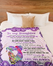 "To Daughter - I Don't Want You To Follow Large Fleece Blanket - 60"" x 80"" aos-coral-fleece-blanket-60x80-lifestyle-front-02"