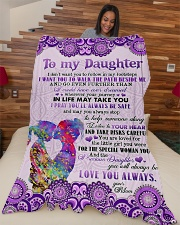 "To Daughter - I Don't Want You To Follow Large Fleece Blanket - 60"" x 80"" aos-coral-fleece-blanket-60x80-lifestyle-front-04"