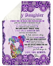 "To Daughter - I Don't Want You To Follow Large Sherpa Fleece Blanket - 60"" x 80"" thumbnail"