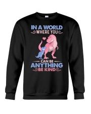 GRANDMA TO GRANDKIDS - IN A WORLD - BE KIND Crewneck Sweatshirt thumbnail
