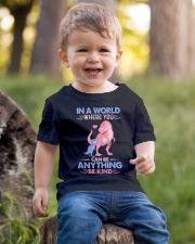 GRANDMA TO GRANDKIDS - IN A WORLD - BE KIND Youth T-Shirt lifestyle-youth-tshirt-front-4