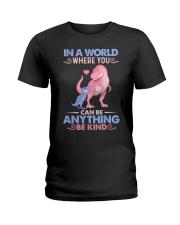 GRANDMA TO GRANDKIDS - IN A WORLD - BE KIND Ladies T-Shirt thumbnail