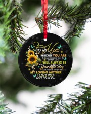 To My Mom - Circle Ornament  Circle ornament - single (porcelain) aos-circle-ornament-single-porcelain-lifestyles-07