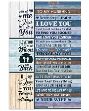 To Husband - Blue Wooden - I Wish I Could Turn  Vertical Poster tile