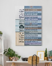 To Husband - Blue Wooden - I Wish I Could Turn  20x30 Gallery Wrapped Canvas Prints aos-canvas-pgw-20x30-lifestyle-front-03