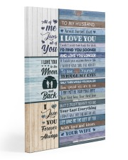 To Husband - Blue Wooden - I Wish I Could Turn  20x30 Gallery Wrapped Canvas Prints front