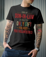 BEING MY SON-IN-LAW - THE ONLY GIFT YOU NEED Classic T-Shirt lifestyle-mens-crewneck-front-6