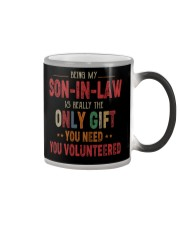 BEING MY SON-IN-LAW - THE ONLY GIFT YOU NEED Color Changing Mug thumbnail