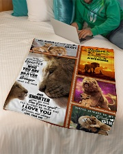 """To My Daughter - Lion - Never Forget Who You Are Small Fleece Blanket - 30"""" x 40"""" aos-coral-fleece-blanket-30x40-lifestyle-front-07"""