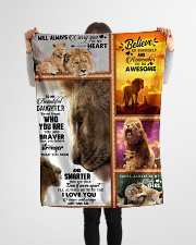 """To My Daughter - Lion - Never Forget Who You Are Small Fleece Blanket - 30"""" x 40"""" aos-coral-fleece-blanket-30x40-lifestyle-front-14"""