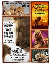 """To My Daughter - Lion - Never Forget Who You Are Small Fleece Blanket - 30"""" x 40"""" front"""