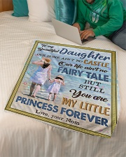"""To My Daughter - Our Home Ain't No Castle Small Fleece Blanket - 30"""" x 40"""" aos-coral-fleece-blanket-30x40-lifestyle-front-07"""