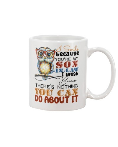 MUG - I SMILE BECAUSE YOU ARE MY SON-IN-LAW - OWL