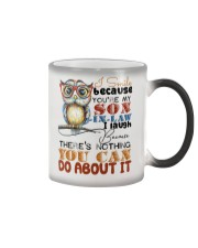 MUG - I SMILE BECAUSE YOU ARE MY SON-IN-LAW - OWL Color Changing Mug thumbnail