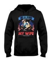 T-SHIRT - MY WIFE WEARS SCRUBS - NURSE Hooded Sweatshirt thumbnail