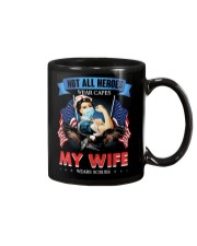 T-SHIRT - MY WIFE WEARS SCRUBS - NURSE Mug thumbnail