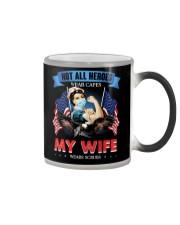 T-SHIRT - MY WIFE WEARS SCRUBS - NURSE Color Changing Mug thumbnail
