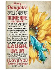 DAUGHTER - SUNFLOWER DOLPHIN - TODAY IS A GOOD  16x24 Poster front