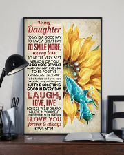 DAUGHTER - SUNFLOWER DOLPHIN - TODAY IS A GOOD  16x24 Poster lifestyle-poster-2