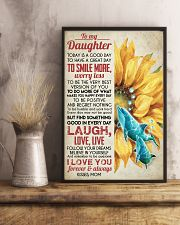 DAUGHTER - SUNFLOWER DOLPHIN - TODAY IS A GOOD  16x24 Poster lifestyle-poster-3