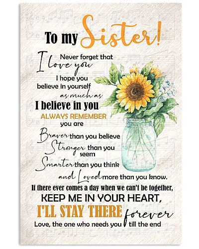 TO MY SISTER - SUNFLOWERS - I LOVE YOU