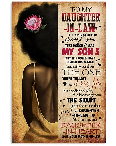 TO MY DAUGHTER-IN-LAW - AFRICAN WOMAN - THE ONE