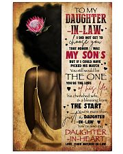 TO MY DAUGHTER-IN-LAW - AFRICAN WOMAN - THE ONE 16x24 Poster front
