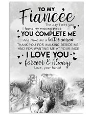 TO MY FIANCE'E - DEER - THE DAY I MET YOU 16x24 Poster front